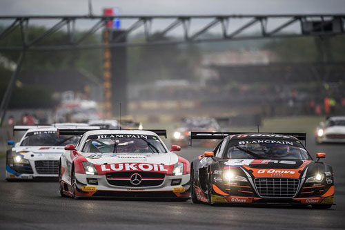 Команда G-Drive Racing  в  гонке Blancpain Sprint Series