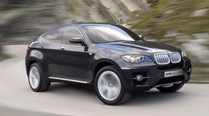 Автомобиль BMW X6 - оригинальный дизайн гибрида внедорожника и купе