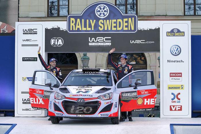 Hyundai Motorsport заняла 2-е место на Ралли Швеции