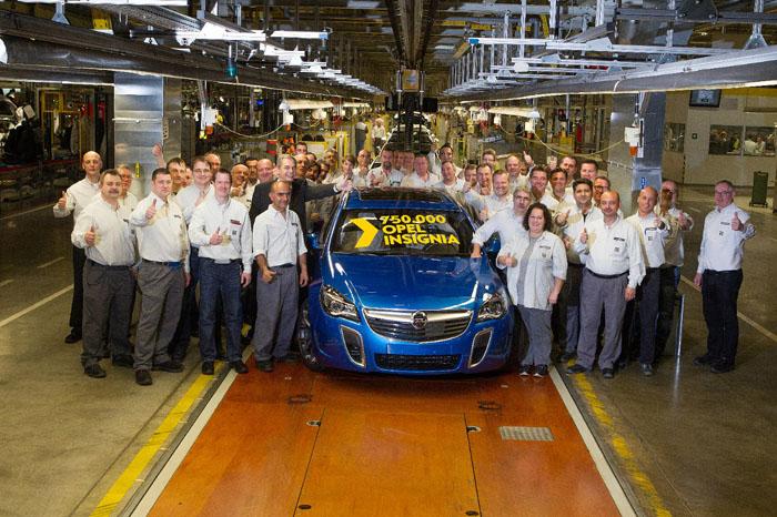 750 000-й Opel Insignia