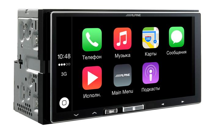 Автомобильный ресивер Alpine iLX-700 с поддержкой Apple CarPlay