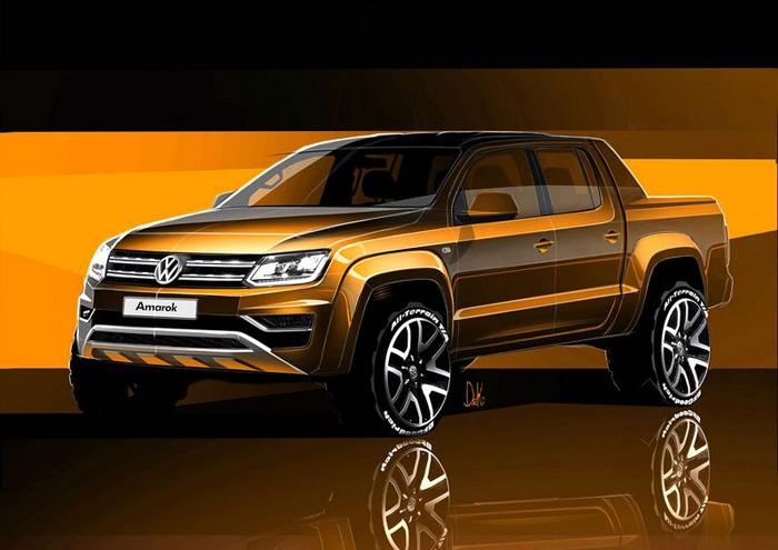 Первые скетчи нового пикапа Volkswagen Amarok