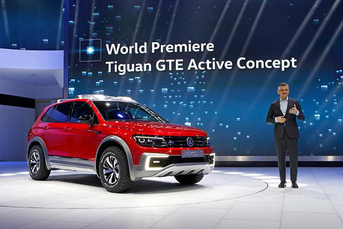 В Детройте Volkswagen представил новый концепт Tiguan GTE Active Concept