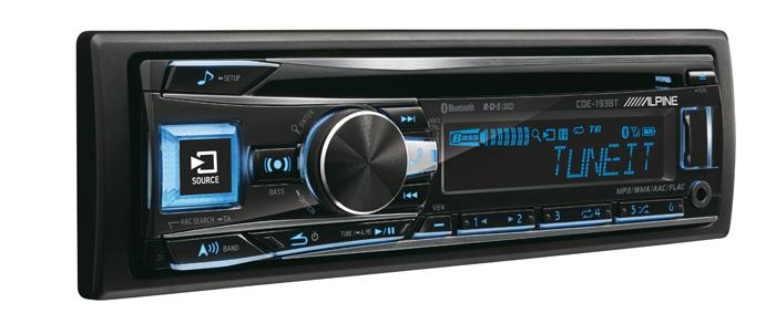 Новый CD-ресивер Alpine CDE-193BT