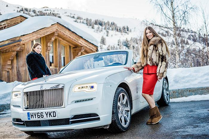 АВИЛОН провел тест-драйв Rolls-Royce в Куршевеле
